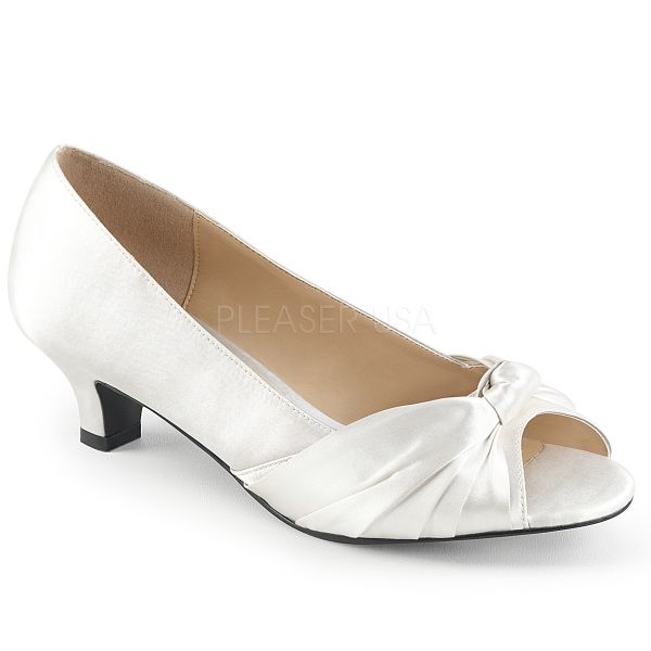 Peep Toe Pumps in weiß FAB-422
